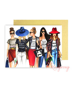 Girl Squad Greeting Card - Four Pack