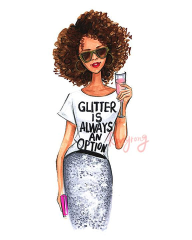 Glitter is Always an Option Art Print