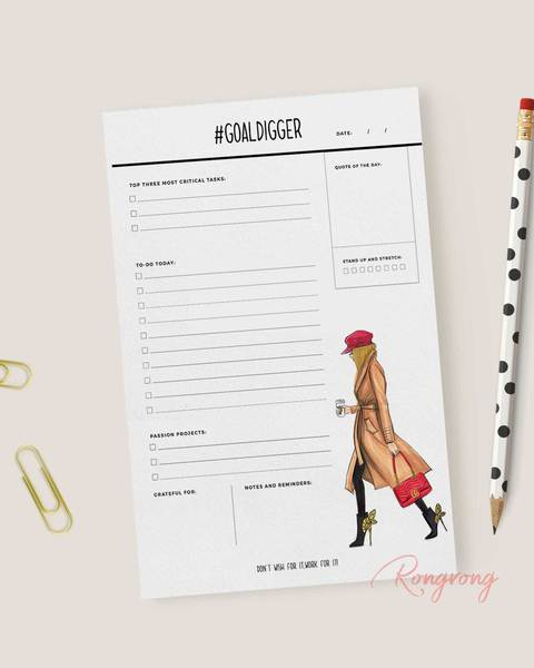 #GoalDigger Daily Planner Notepad - Blonde - Two Pack