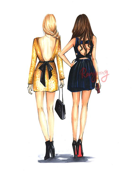 You Are the Blair To My Serena Art Print