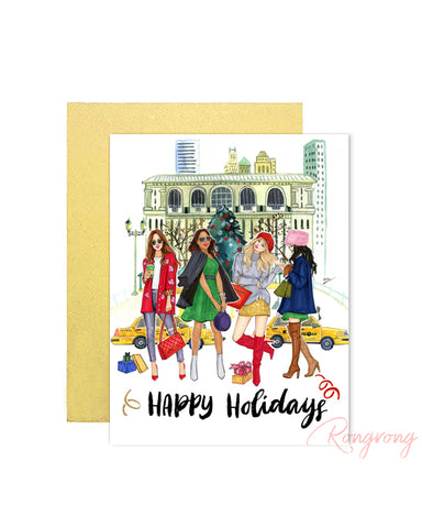 Happy Holidays Greeting Card - Four Pack