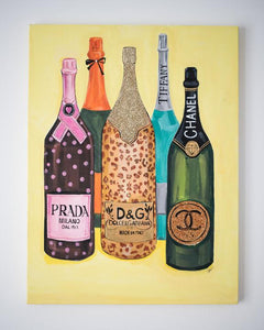 High Fashion Champagne Art Print