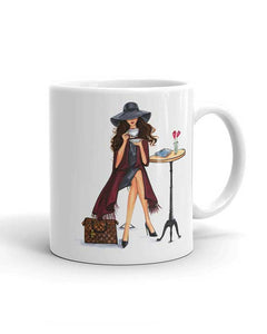 Lady Latte Mug - Brunette - Two Pack