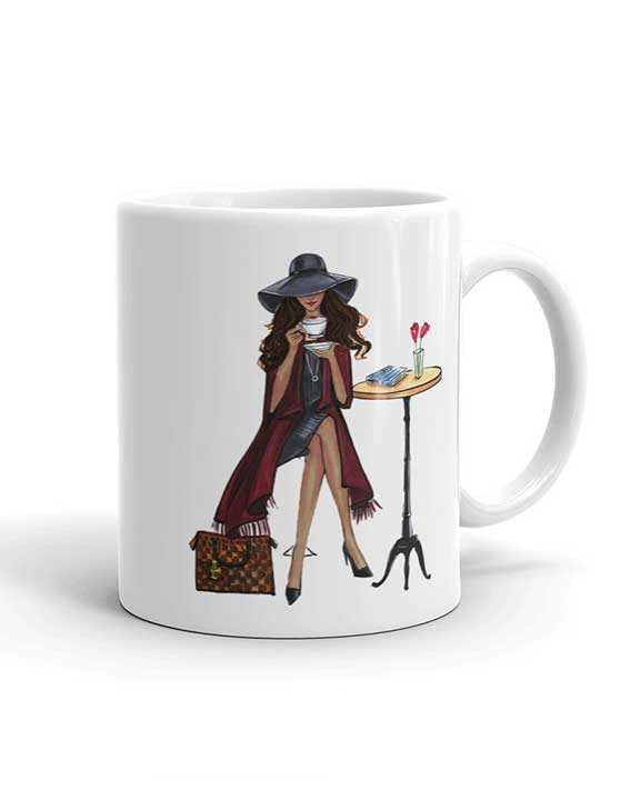 Lady Latte Mug - Dark - Two Pack