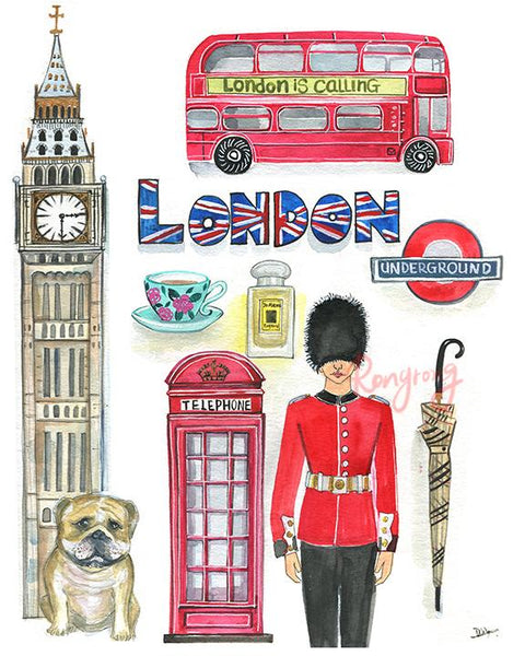 London is Calling Art Print