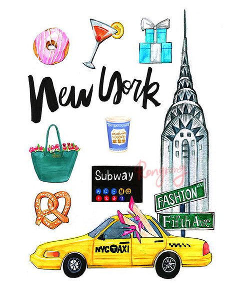 New York City On My Mind Art Print