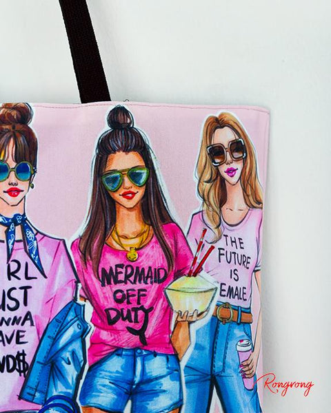 Pink Fashionistas Weekend Tote
