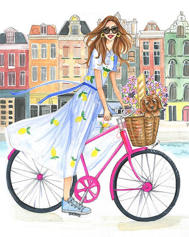 Bike Ride On The Canal Art Print