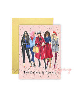 The Future is Female Greeting Card - Four Pack