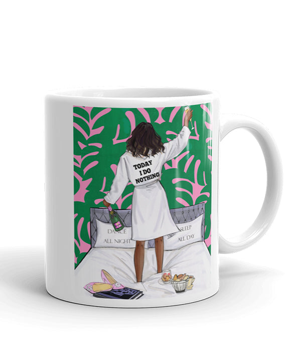 Today I Do Nothing Mug - Two Pack