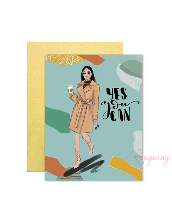 Yes You Can Greeting Card - Four Pack