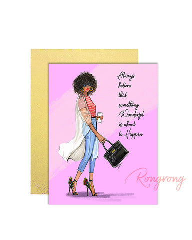 Pink Diva Alone Greeting Cards