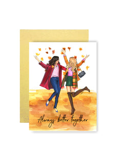 Always Better Together Greeting Card - Four Pack