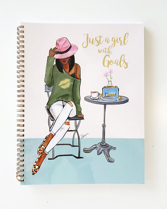 Just a Girl with Goals Notebook - Dark - Two Pack