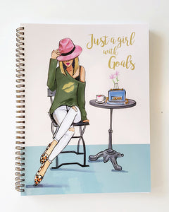 Just a Girl with Goals Notebook - Blonde