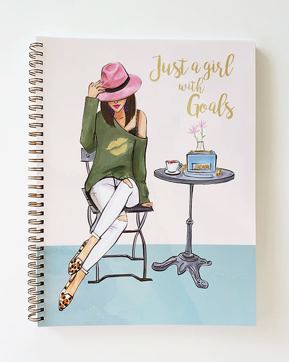 Just a Girl with Goals Notebook - Brunette