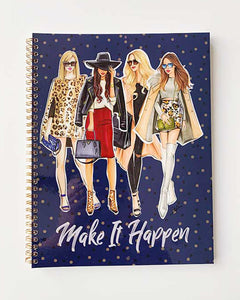 Make It Happen (Blue)  Notebook - Two Pack