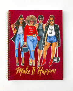 Make It Happen (Purple)  Notebook - Two Pack