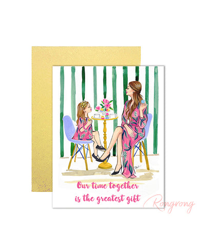 Our Time Together Is The Greatest Gift Greeting Card - Four Pack