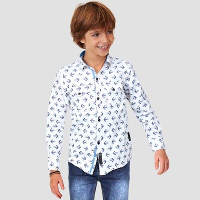 BOYS JACQUARD SLIM FIT CASUAL SHIRT - Big Brands | Small Prices | Exportbrands.pk