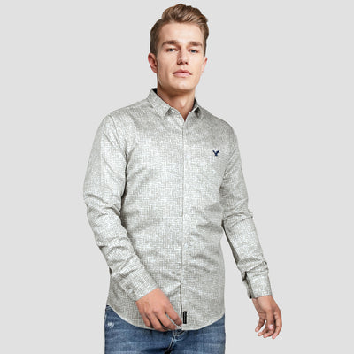 MEN PRINTED SLIM FIT CASUAL SHIRT - Big Brands | Small Prices | Exportbrands.pk