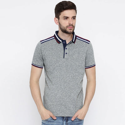 Original Max Exclusive Men Shoulder Stripes Slim Fit Polo Shirt - Big Brands | Small Prices | Exportbrands.pk