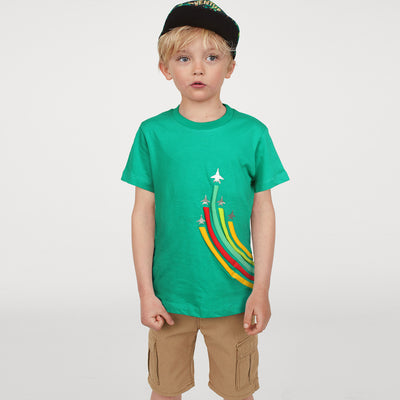 KHD Boys F-16 Rain Bow Regular Fit T-Shirt 100% Cotton - Big Brands | Small Prices | Exportbrands.pk