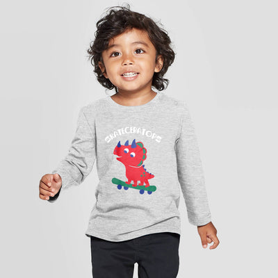 Baby Long Sleeves Grey T-Shirt 100% Cotton