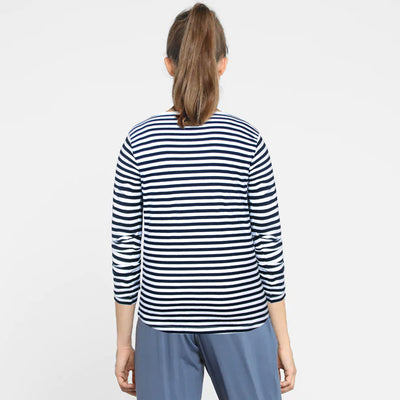WOMEN FULL SLEEVES YARN DYED STRIPES T-SHIRT - Big Brands | Small Prices | Exportbrands.pk