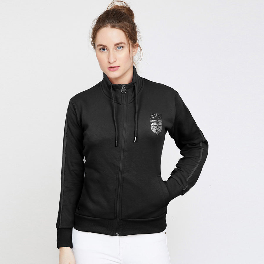 AVX Women Zipped Sweat Shirt