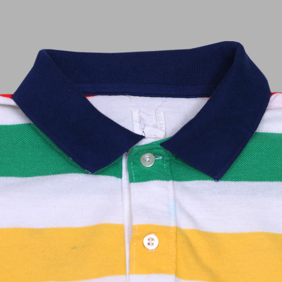 GAP ORIGINAL KIDS MULTI STRIPED POLO SHIRT
