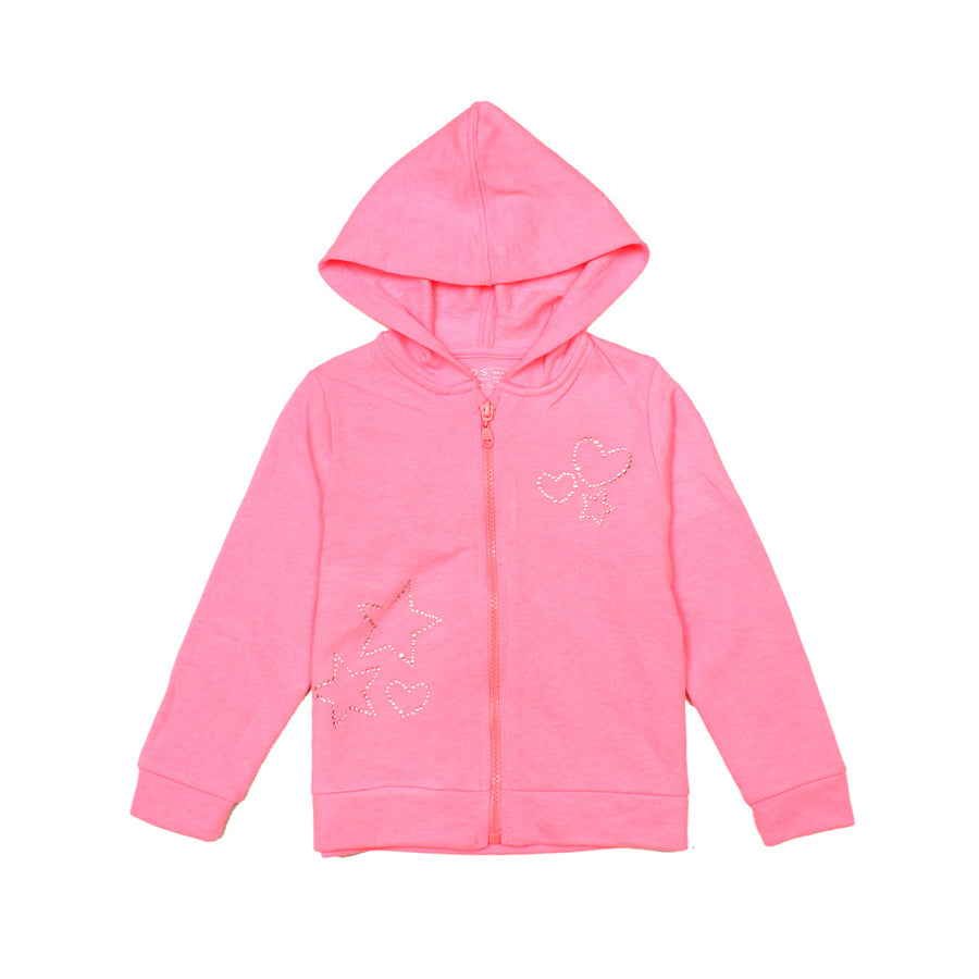 GIRLS REGULAR FIT ZIPPER HOODIE