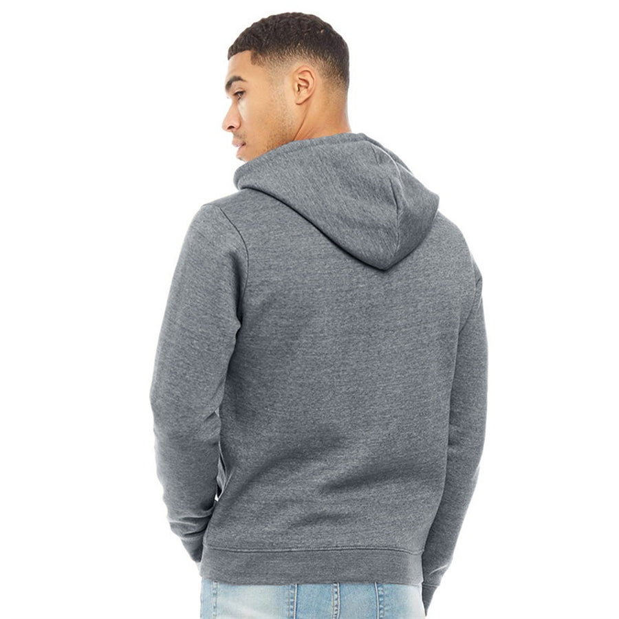 Fluid Men Charcoal Grey Solid Hooded Zipper Sweatshirt
