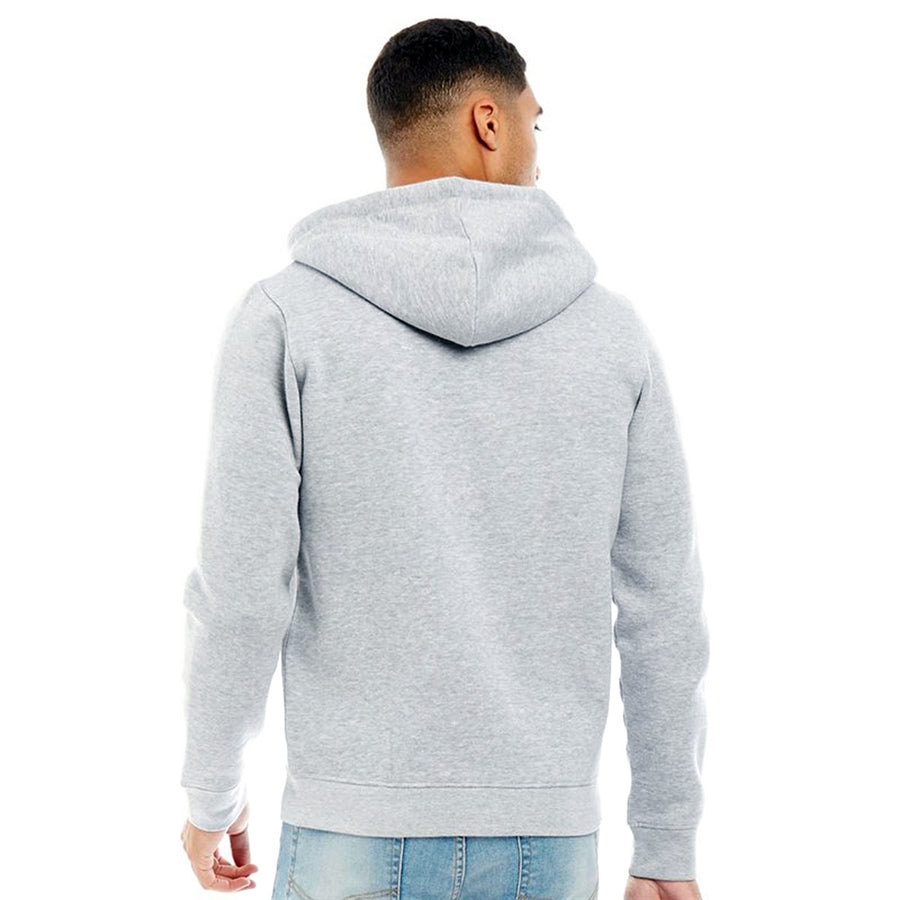 Fluid Men Grey Solid Hooded Zipper Sweatshirt