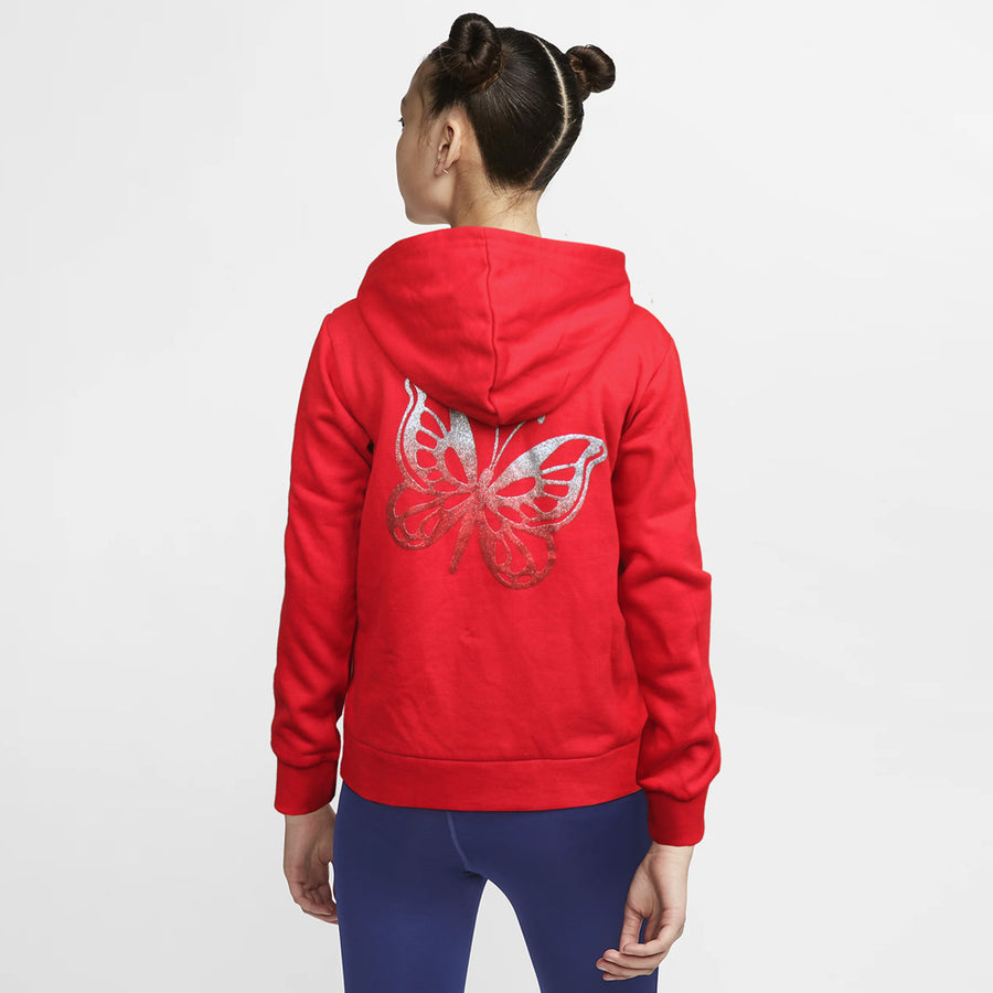 GIRLS HIGH FASHION REGULAR FIT ZIPPER HOODIE
