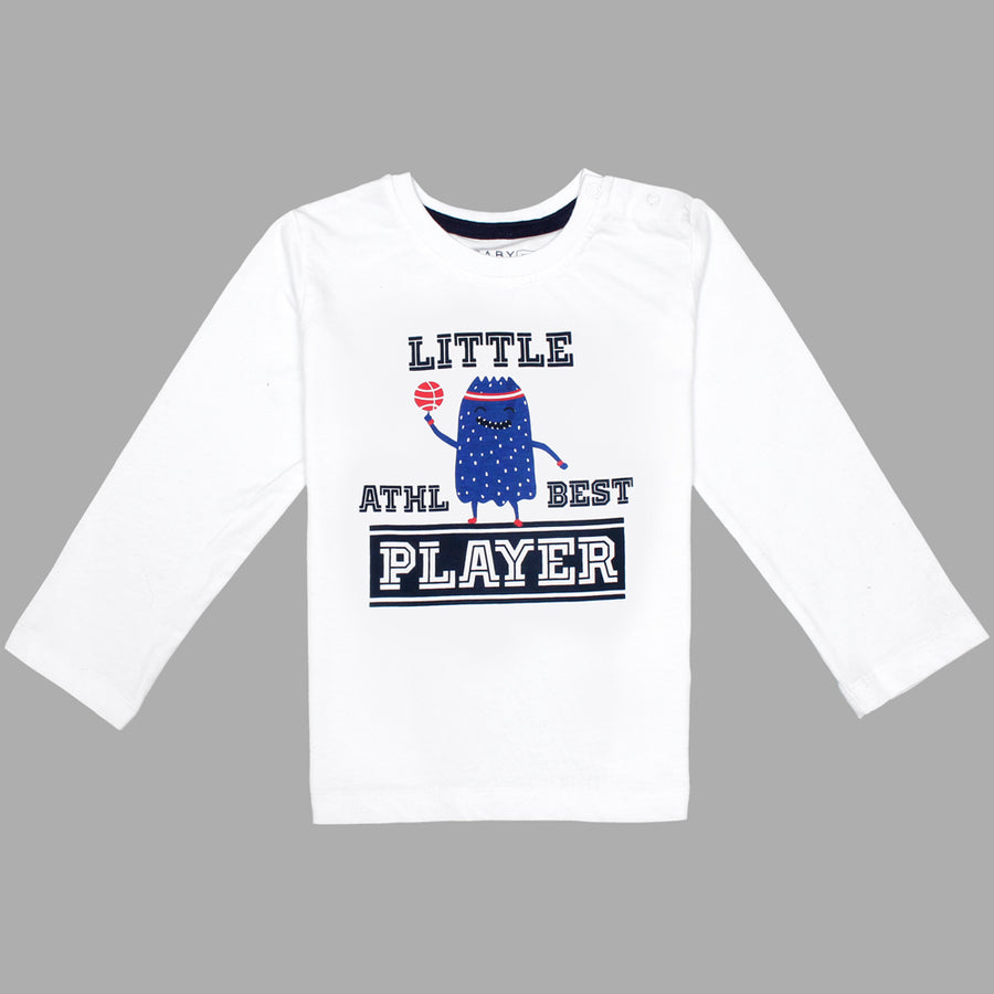 Baby Long Sleeves Little Players T-Shirt 100% Cotton