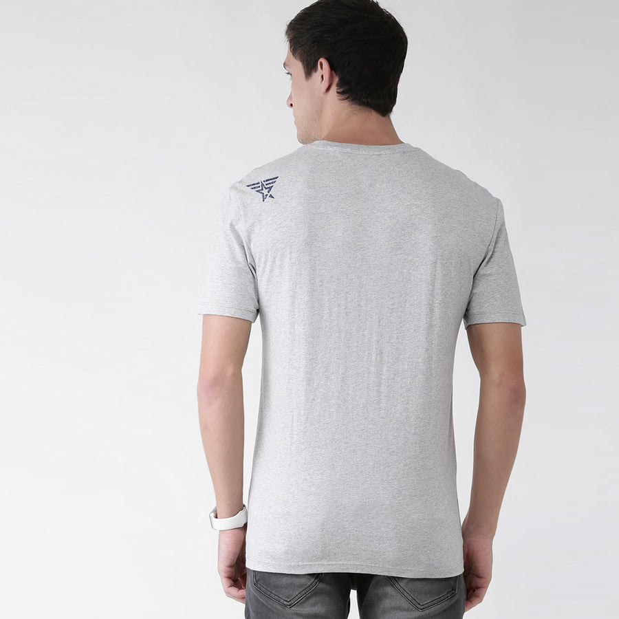 AVX MEN GREY COTTON TEE SHIRT