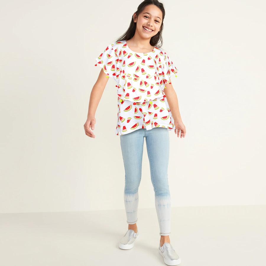 KHD Girls Water Melon T-Shirt 100% Cotton - Big Brands | Small Prices | Exportbrands.pk