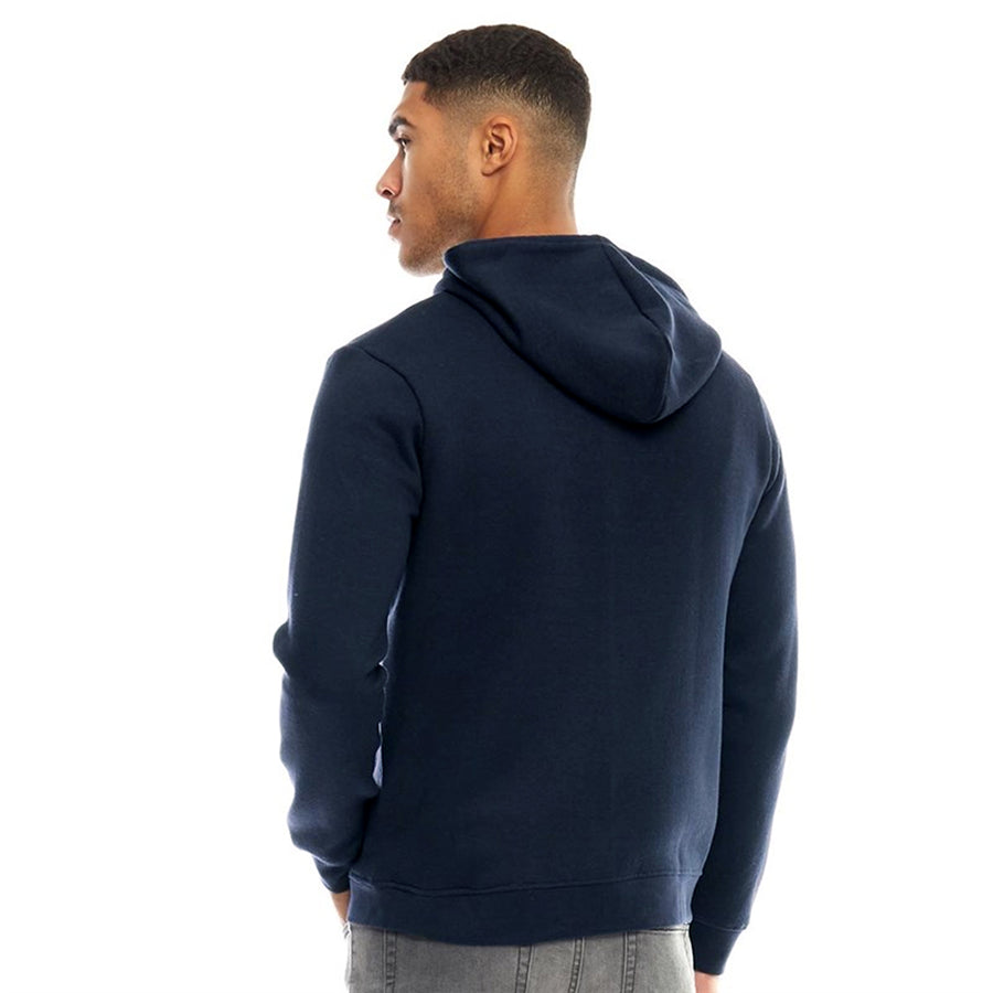 Fluid Men Navy Blue Solid Hooded Zipper Sweatshirt - Big Brands | Small Prices | Exportbrands.pk