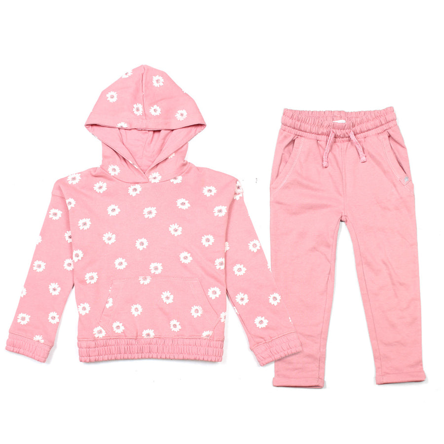 GIRLS PRINTED REGULAR FIT TRACK SUITE