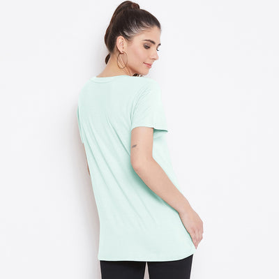 Good Vibes Women Regular Fit T-Shirt 100% Cotton - Big Brands | Small Prices | Exportbrands.pk