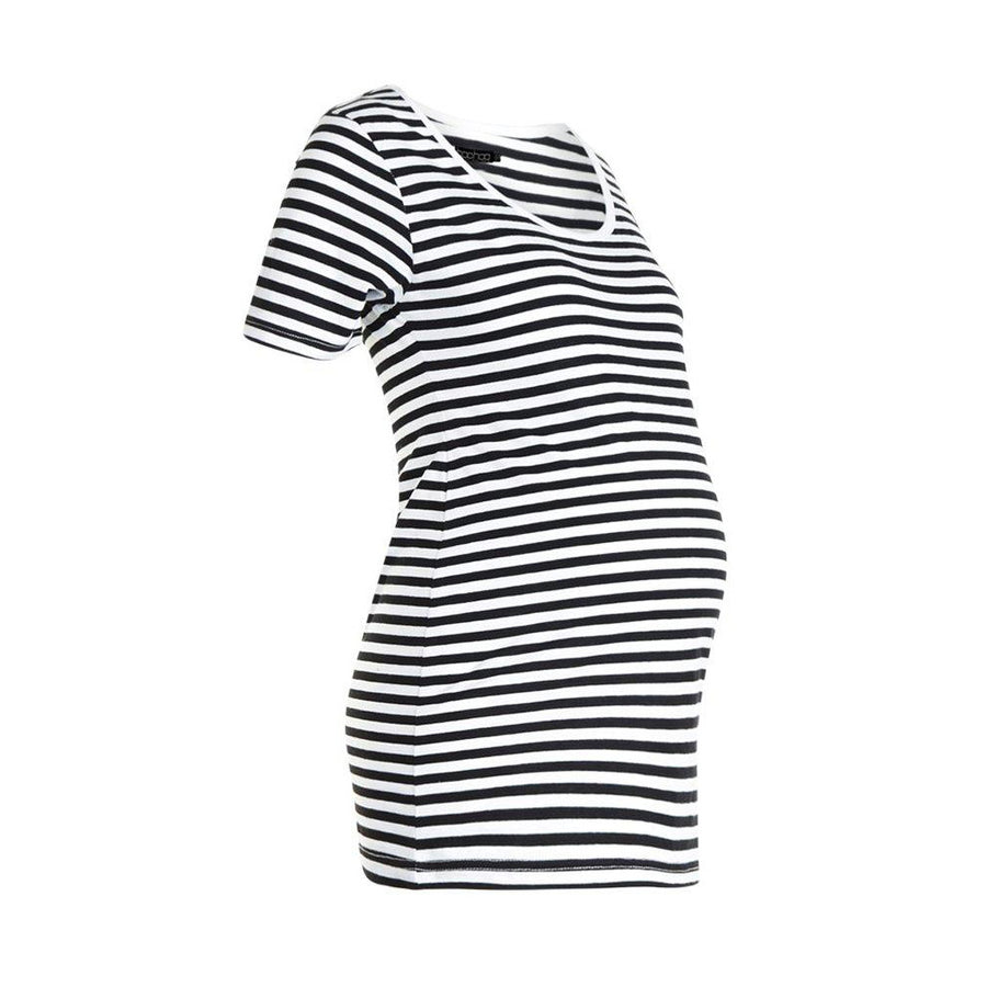 BOOHOO LADIES LONG LENGTH REGULAR FIT STRIPES SHIRT