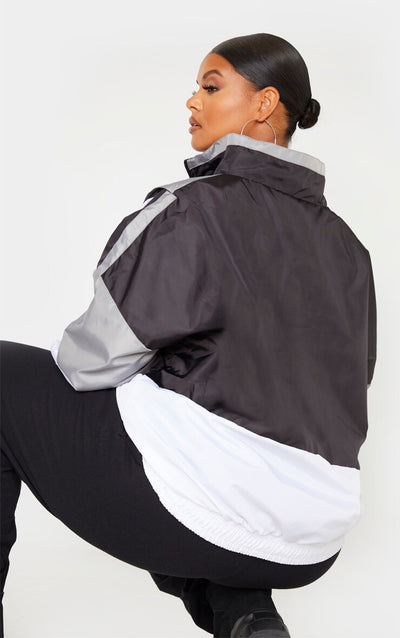 MULTI BIG SIZE  ZIP UP SHELL WINDBREAKER JACKET