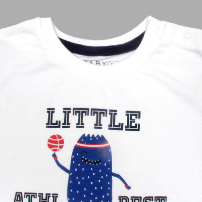 Baby Long Sleeves Little Players T-Shirt 100% Cotton - Big Brands | Small Prices | Exportbrands.pk