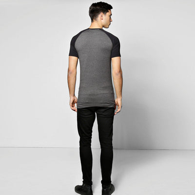 BOOHO MAN MEN'S RAGLAN TEE SHIRT - Big Brands | Small Prices | Exportbrands.pk