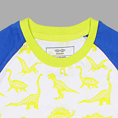 KHD Boys Dinosaur Reglan Sleeves T-Shirt 100% Cotton - Big Brands | Small Prices | Exportbrands.pk
