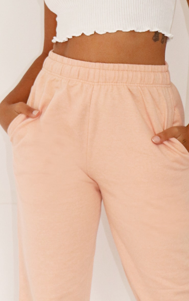 Petite Girls Peach Casual Joggers