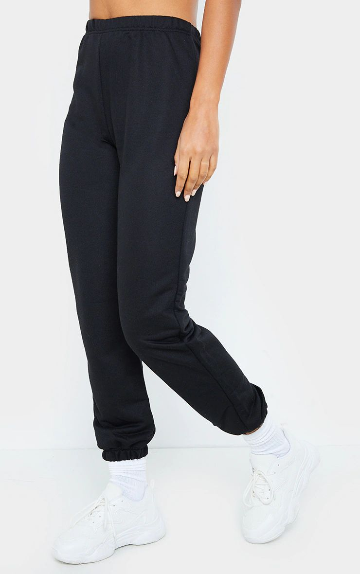 BLACK BASIC LIGHT WEIGHT JOGGERS
