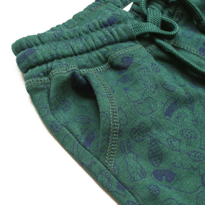 BOYS EXPORT QUALITY GREEN PRINTED REGULAR FIT TROUSER