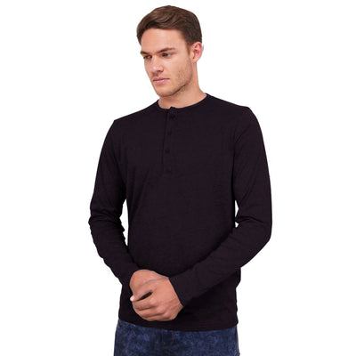 PERRO MEN HENLEY FULL SLEEVES SHIRT - Big Brands | Small Prices | Exportbrands.pk